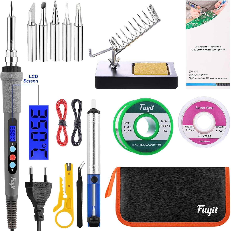 Kit de fer à souder 220V 80W à température régalble et écran de contrôle LCD