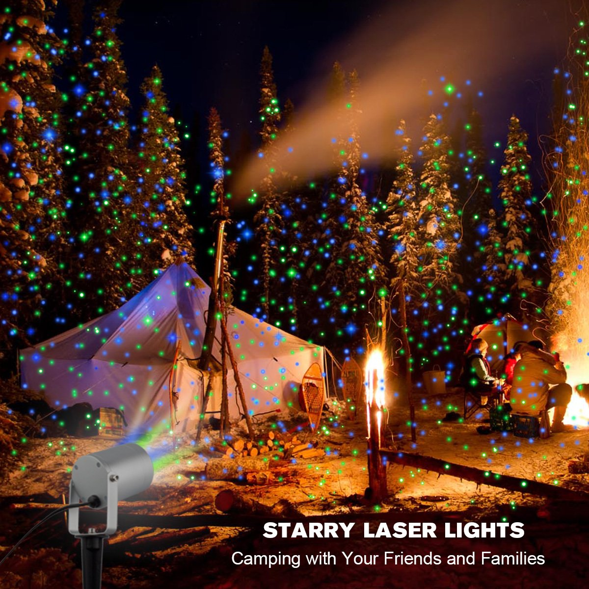 Amazon.com : 2 Color Motion Laser Light Star Projector with RF ...