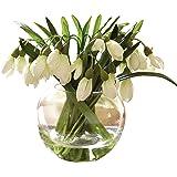 Bloom Snowdrop Arrangement Artificial Flower Spring Decoration Plant Glass Vase