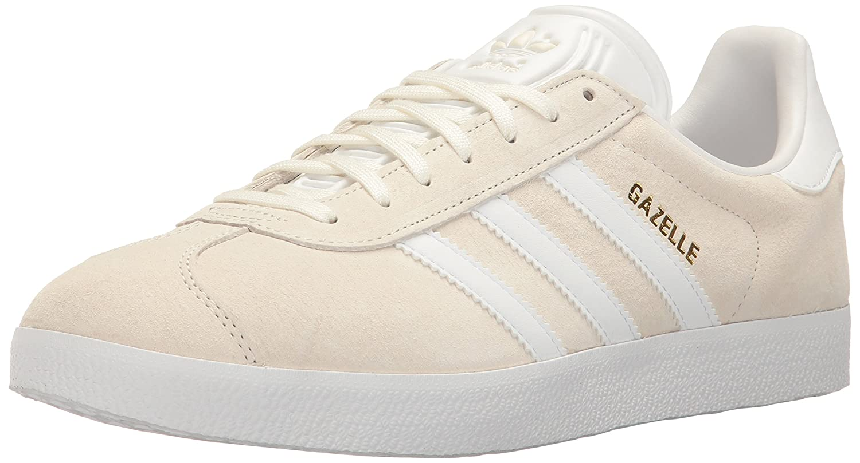 adidas Originals Gazelle Sneakers B01M2V4YSL 9 M US|White/White/Metallic Gold