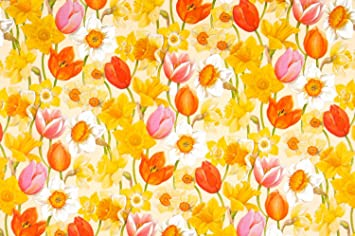 2 sheets quality easter gift wrapping paper tulips daffodils 2 sheets quality easter gift wrapping paper tulips daffodils design negle Image collections