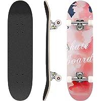 Hikole Skateboard Completo, Pro 31 Pulgadas Monopatín para Adolescentes Principiantes Niñas Niños Adultos, 9 Capas…