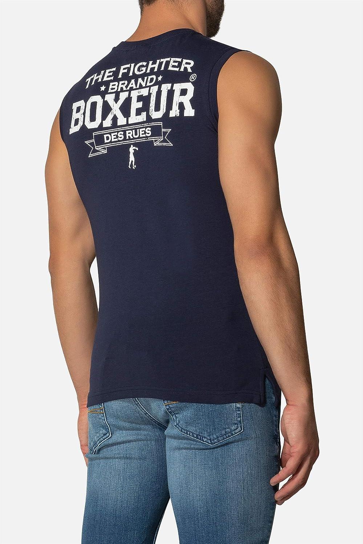 Canotta da Boxe Blu Navy in Tessuto Stretch BOXEUR DES RUES Uomo