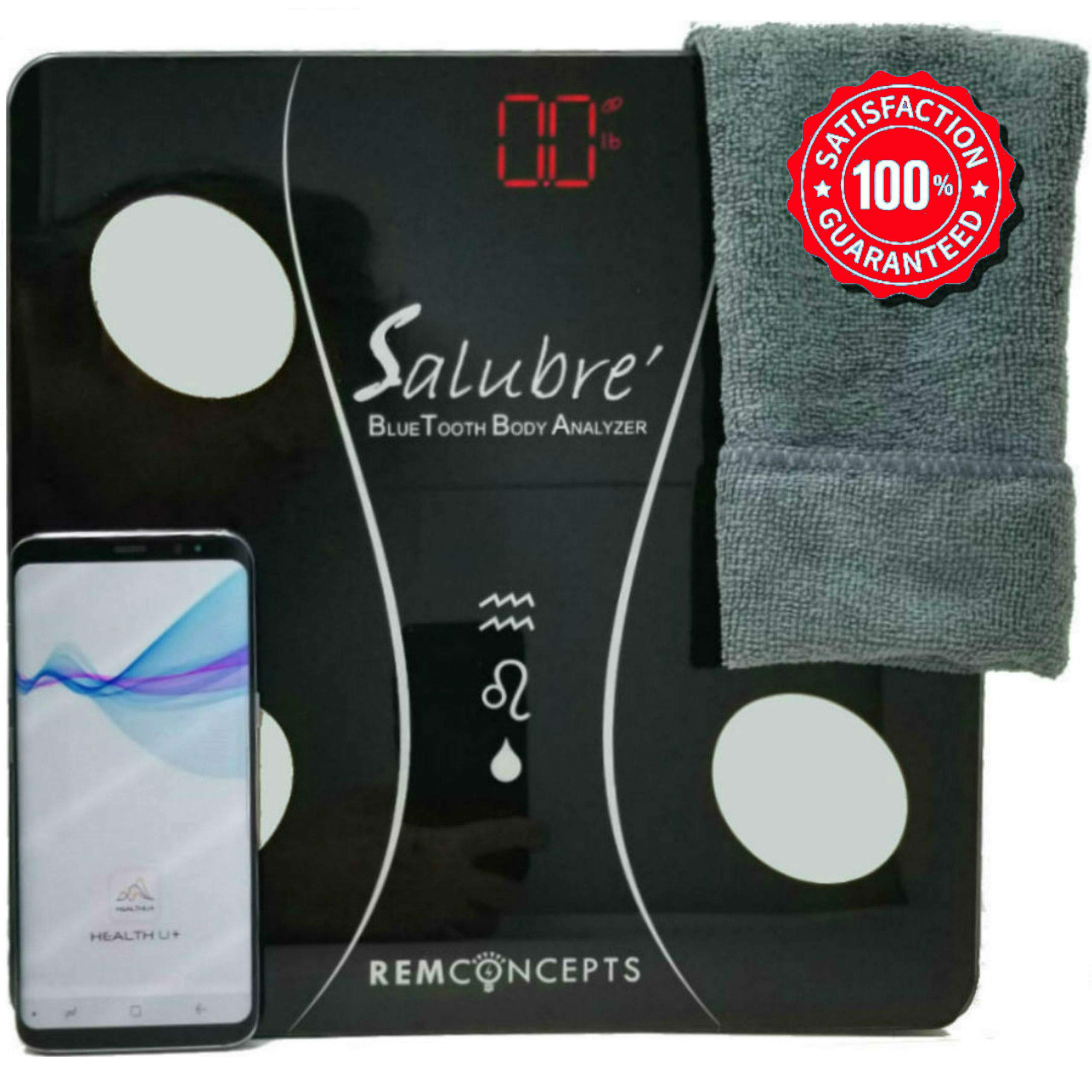Body Fat Scale/Body Analyzer Scale/Body Composition Scale - Supports Fitness and Weight Loss with Fitness Tracker App - for Apple or Android Smart Phone Users
