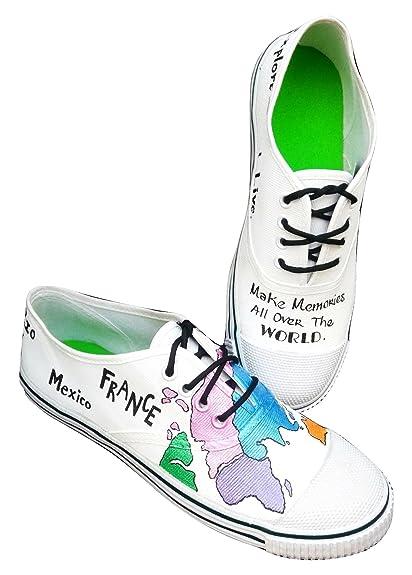 Funky n trendy world map handpainted waterproof canvas shoes 3 funky n trendy world map handpainted waterproof canvas shoes 3 gumiabroncs Images