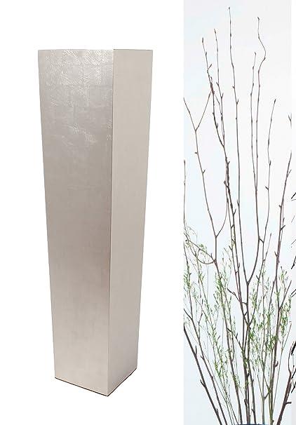 Amazon Green Floral Crafts 30 Tall Floor Vase All Silverleaf