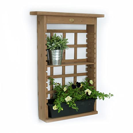 algreen garden view vertical living wall planter and decorative shelving unit