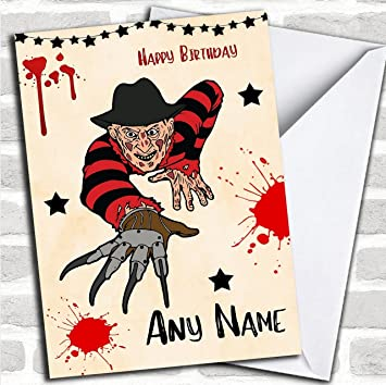 Freddy Krueger Scary Customised Birthday Greetings Card Cards Horror Horrid