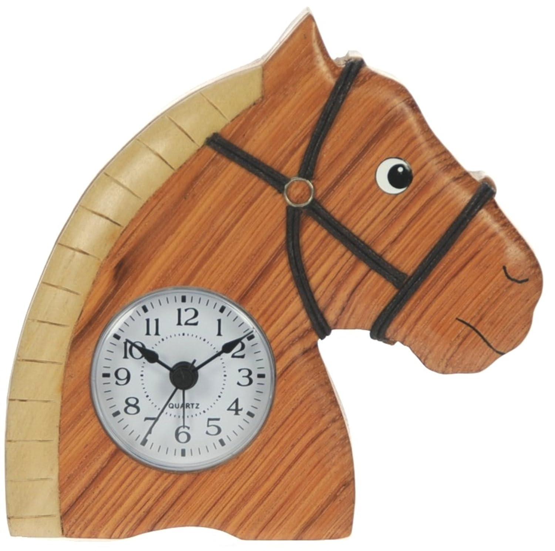 kids bedside alarm clock horse novelty christmas gift for