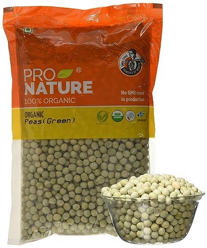 Pro Nature 100% Organic Green Peas, 500g