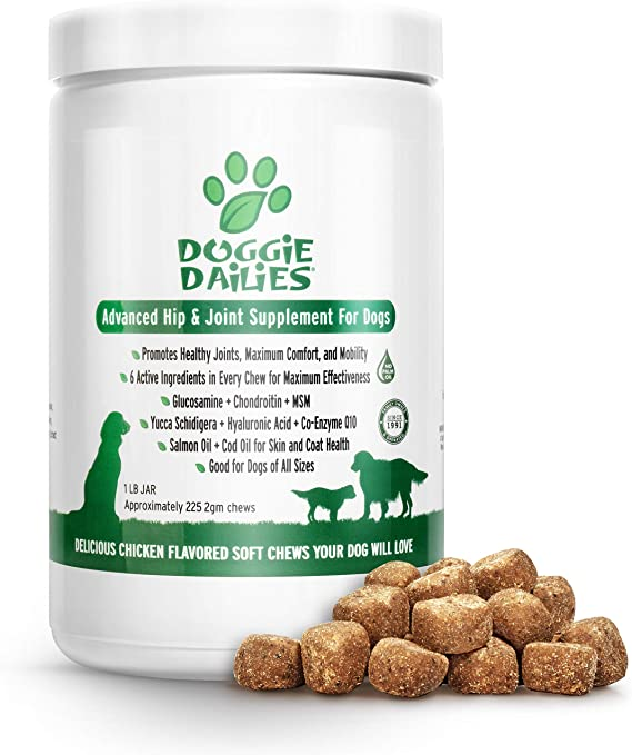 Doggie Dailies Glucosamine for Dogs - The Best Dog Hip and Joint Supplements