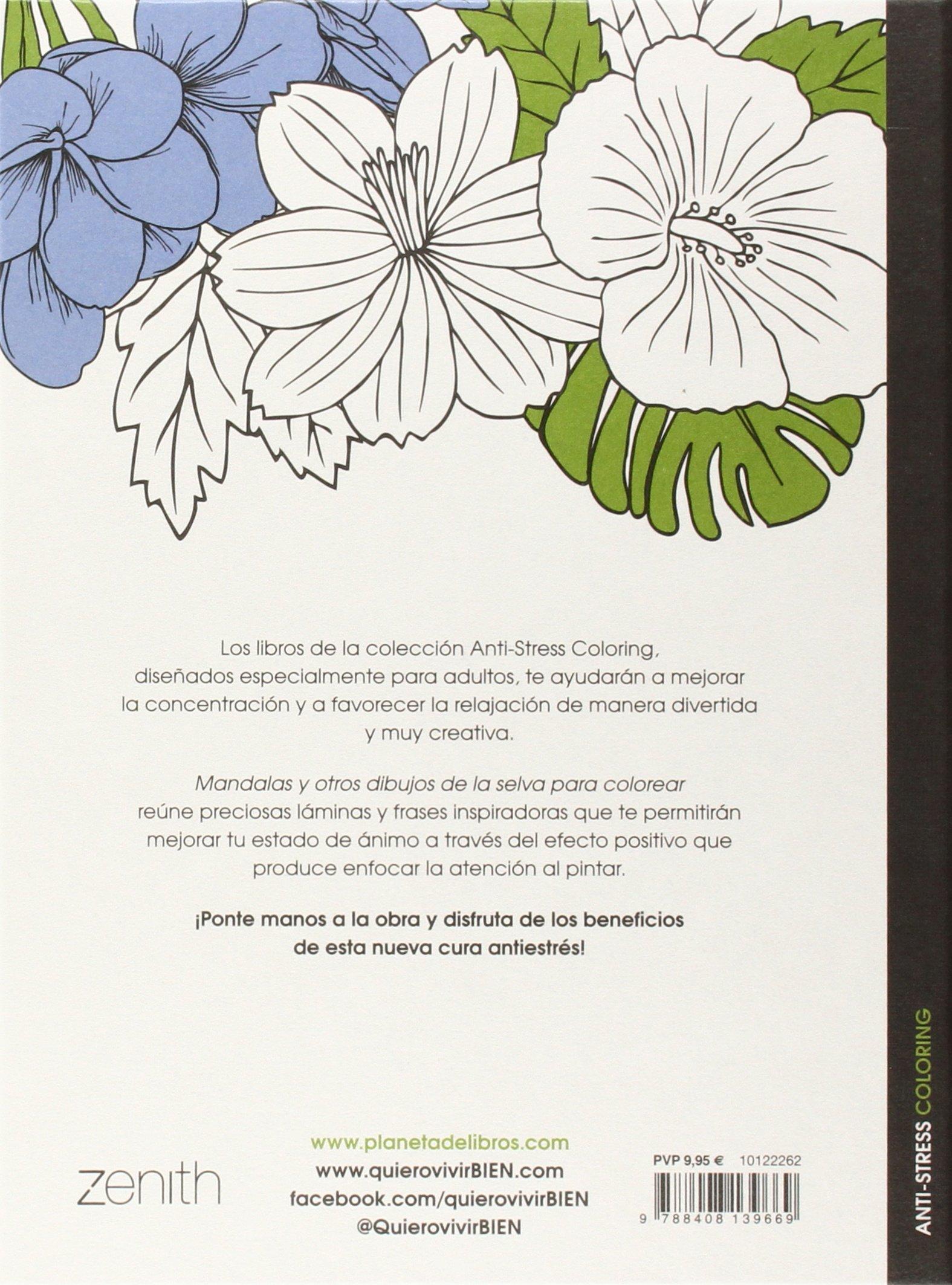 Mandalas Y Otros Dibujos De La Selva Para Colorear Aa Vv