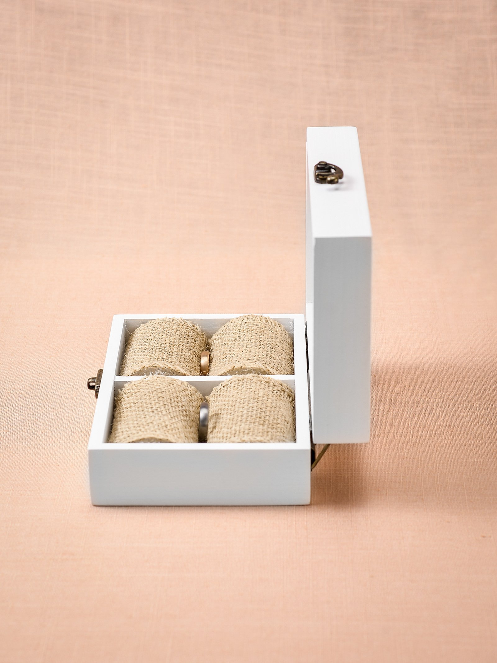 AW Rustic Wood Wedding Ring Bearer Box Jewelry Box for Wedding Ceremony by AWEI (Image #4)