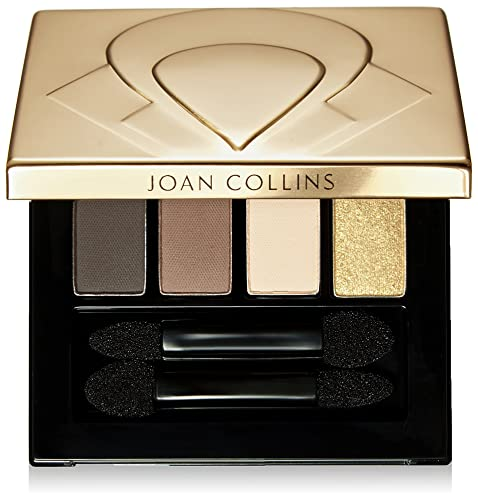 Joan Collins Timeless Beauty Eyeshadow Quad, Moody Browns and Gold 5 g