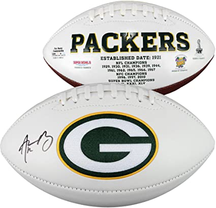de6771afdd8 Aaron Rodgers Green Bay Packers Autographed White Panel Football - Fanatics  Authentic Certified - Autographed Footballs at Amazon's Sports Collectibles  ...