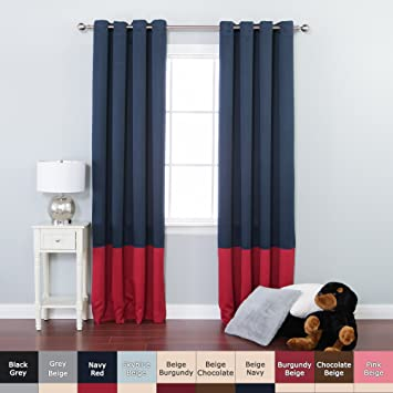 Red Curtains amazon red curtains : Amazon.com: Best Home Fashion Colorblock Thermal Insulated ...