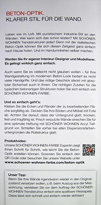 Beton Optik Grundspachtel Grau 5 Kg Schoner Wohnen Amazon De Baumarkt