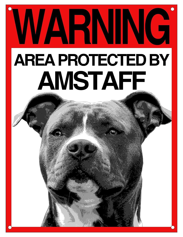 Lovelytiles Amstaff matrícula Cuidado con el Perro Cartel ...
