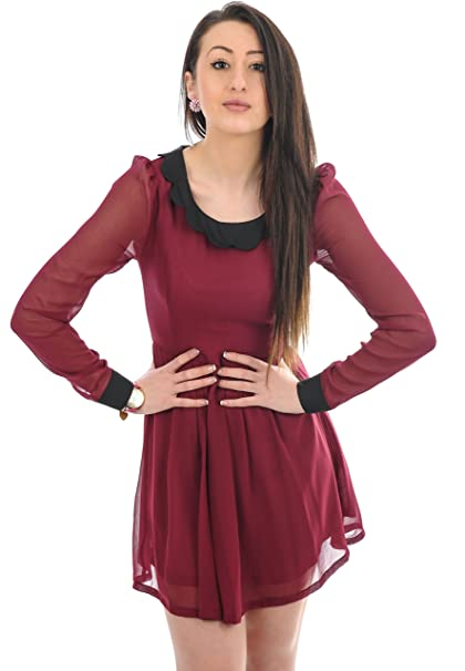 Ça Va Bien Fashion - Vestido - para mujer rojo granate 38