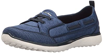Skechers Damen Go Walk Lite-Smitten Slip on Sneaker, Blau (Navy), 35.5 EU