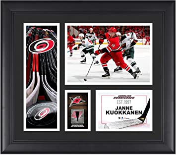 Janne Kuokkanen Carolina Hurricanes Framed 15 quot  x 17 quot  Player  Collage with a Piece of be14ae46a