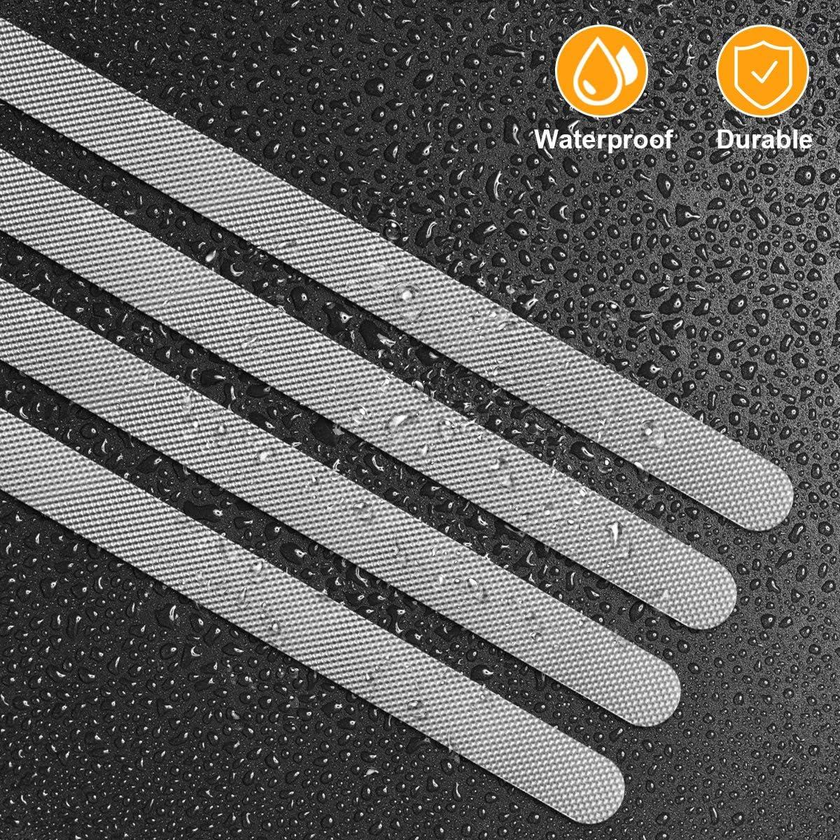 38cm 24PCS YOU Non-Slip Strip Stickers,Shower Stickers Bath Safety Strips Transparent Self-Adhesive Non Slip Strips Stickers for Bathtubs Showers,Stair,2cm