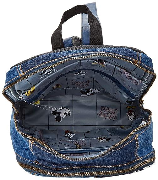 41b2acb58dc0 Desigual Damen BolsExotic Mickey Milan Rucksackhandtasche, Blau (Denim Dark  Blue), 13x39.