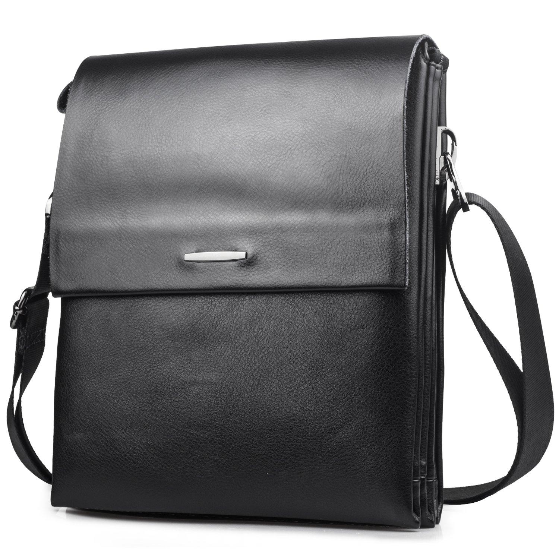 7cf92ff50c3e BAGZY Men Genuine Leather Shoulder Bag IPAD Business Case Clutch Bag  Handbag Cross Body Travel Messenger Bag For Kindle Ipad Tablet with  Removable Shoulder ...