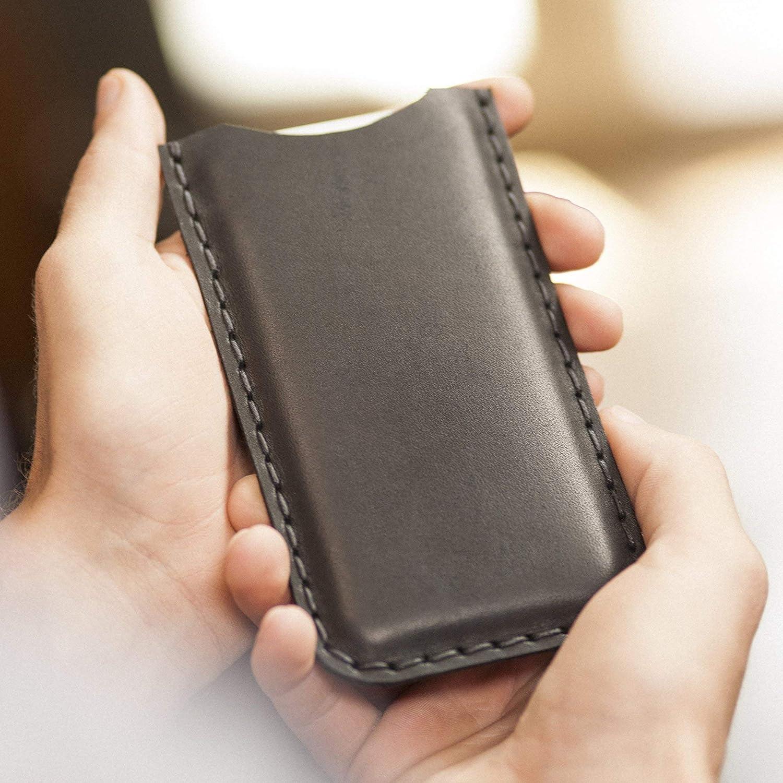 Housse Noir pour iPhone 8 7 6 6s en Cuir Vé ritable. É tui Coque Case Cover Pochette