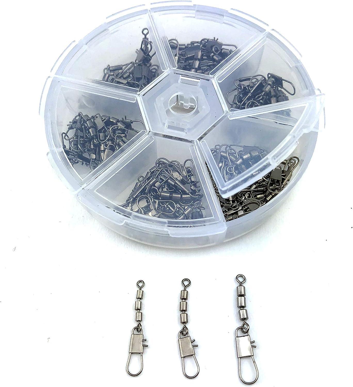 Zite Fishing Dreifachwirbel Set Sbirolino Wirbel Forellen Angeln 60 Stück Box