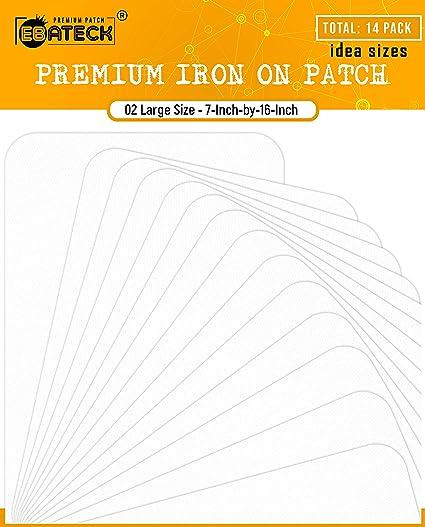 Amazon.com: Ebateck 14Pcs Fabric Repair Iron On Patch White ...