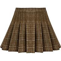 iiniim Falda Niña Ropa Verano Escocesas Cuadros Escocia Falda Plisada Básica con Hebilla Uniforme Escolar Algodón Tartán…