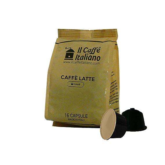 96 cápsulas compatibles con Nescafè Dolce Gusto - Café con leche - Il Caffè Italiano -