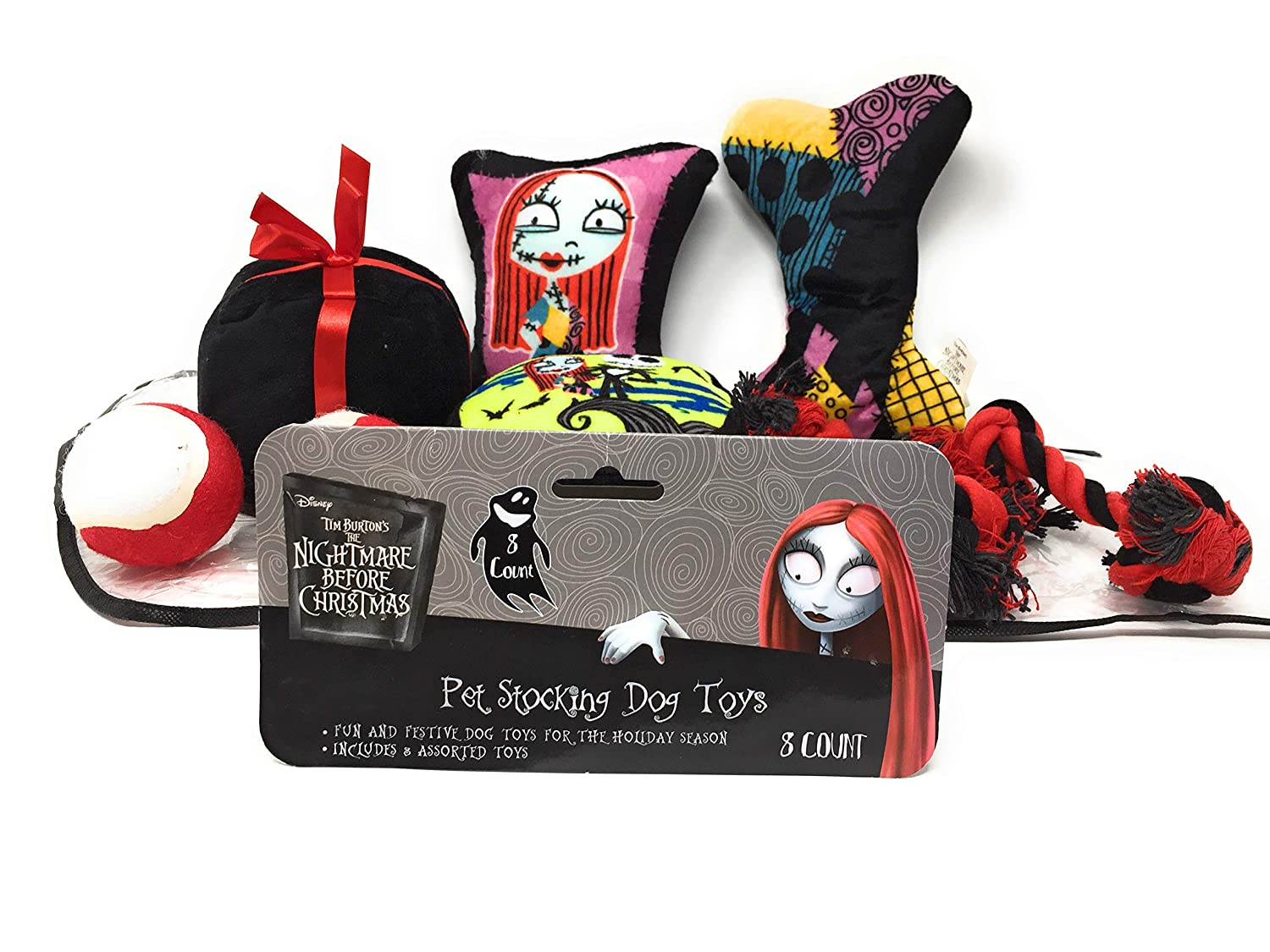 Pet Supplies : Nightmare Before Christmas Dog Toy Stocking Jack ...