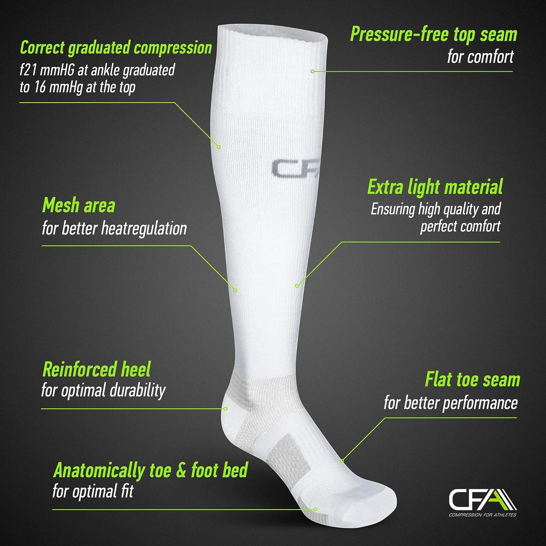 Chaussettes de Compression de Haute Qualit/é Fabriqu/é dans lUE COMPRESSION FOR ATHLETES Soutient de La Cheville et de La Vo/ûte Plantaire