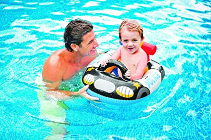 Buy Intex Kiddie Inflatable Swim Pool Water Float Ring Cruiser