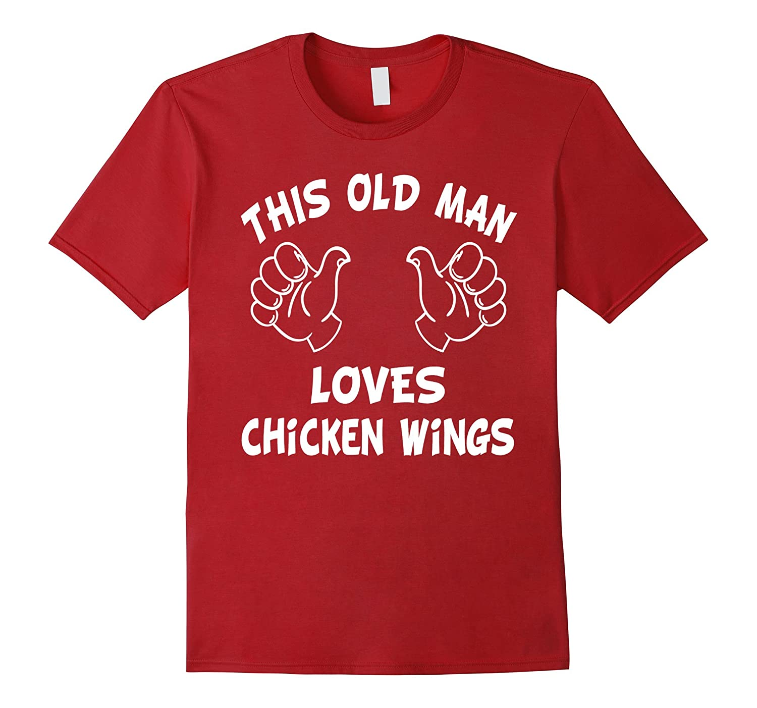 Men's This old man loves chicken wings T-shirt chicken wings gift-Art