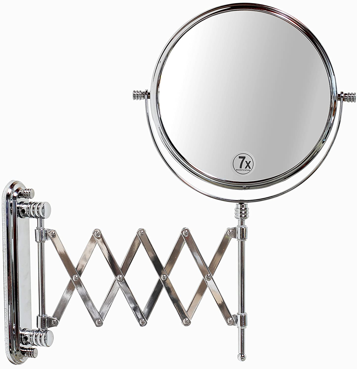 extendable magnifying bathroom mirror 2 sided makeup mirror wall arm swivel magnifying 18258