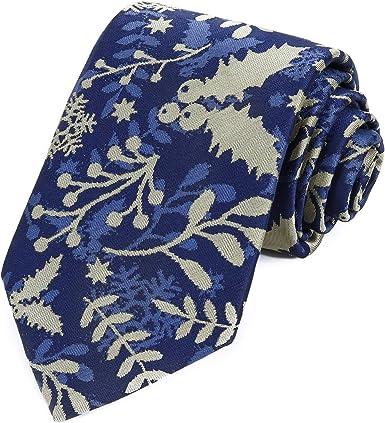 Amazon.com: Holiday Christmas Ties for Men - Berry Blue Christmas - Holiday  Season Necktie: Clothing
