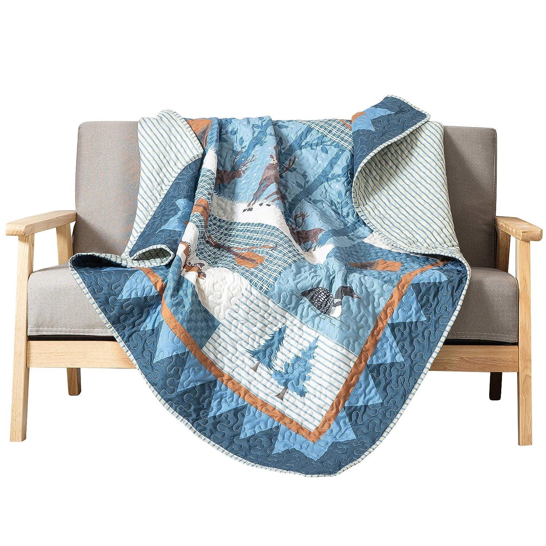 SLPR True North Cabin Lodge Printed Quilted Throw Blanket (50