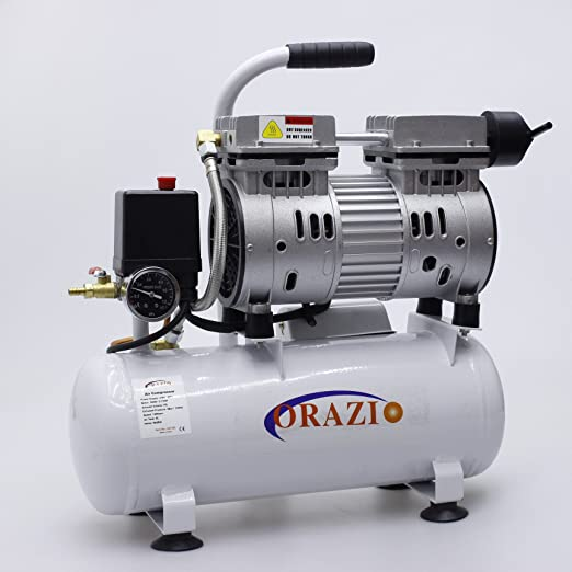 9 opinioni per Compressore aria 65DB 600W 9L tipo silenzioso Per Garage, Clinica Odontoiatrica