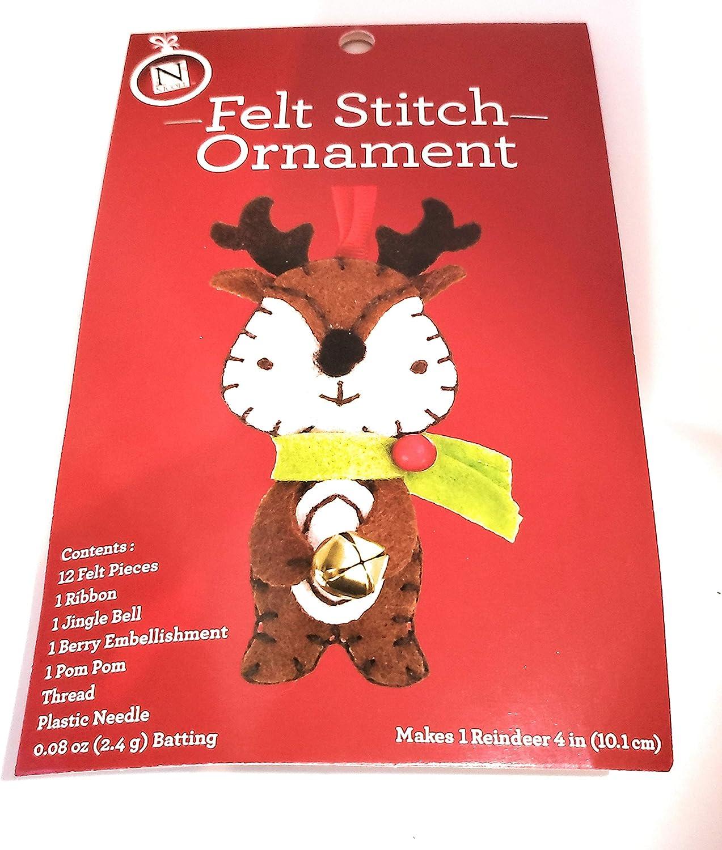 Reindeer Seasons by Nicole Christmas Felt Stitch Ornament Kit