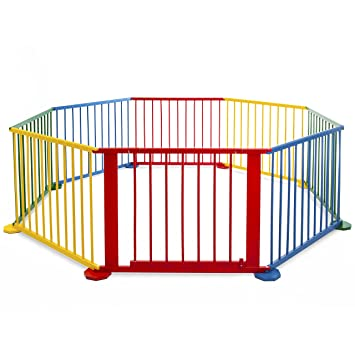 best choice products 8 panel wooden baby playpen