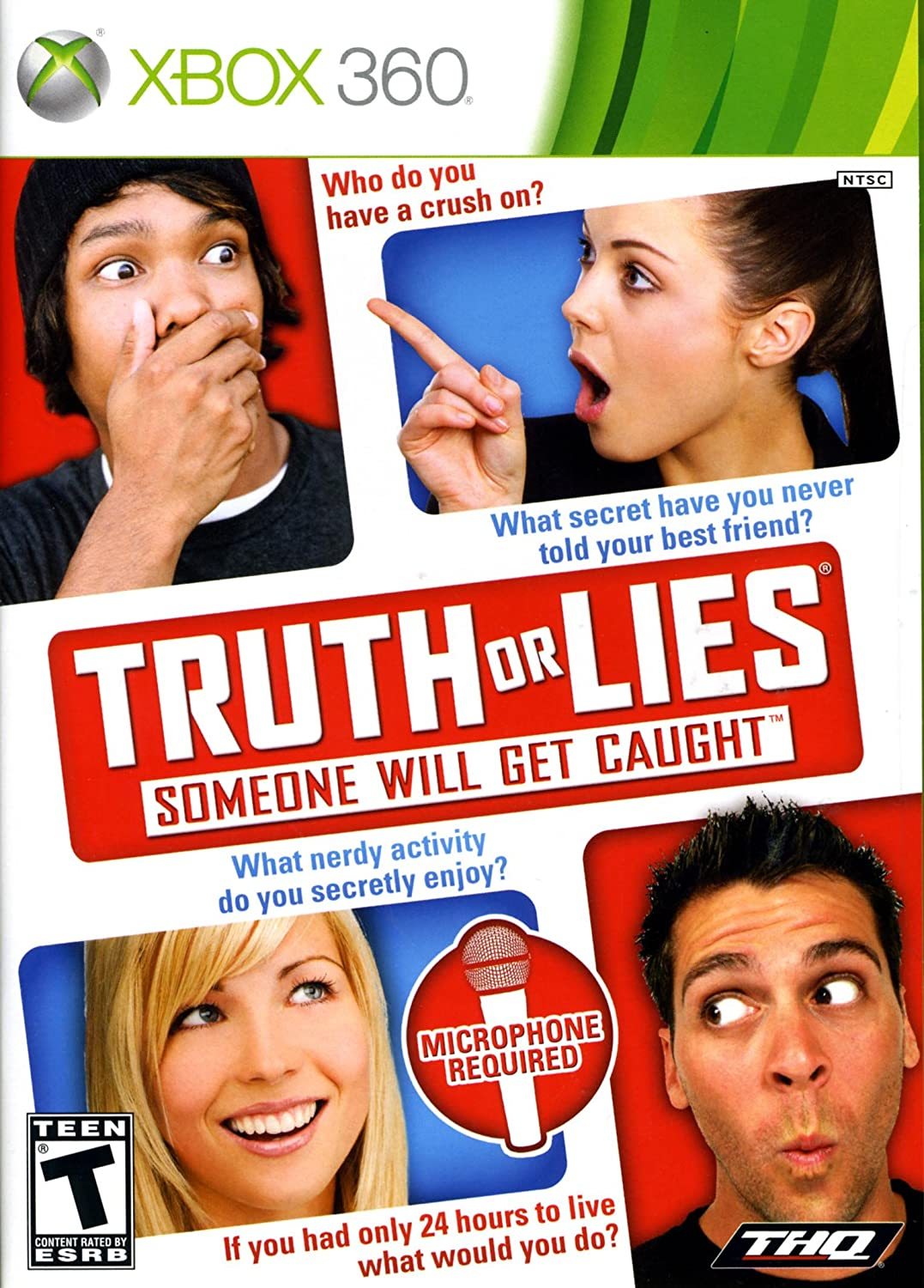 amazon com truth or lies xbox 360 thq video games