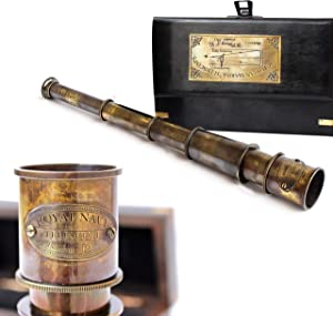 Maritime Antique Table Brass Telescope Royal Décor collectiblesBuy Nautical Vintage Gifts