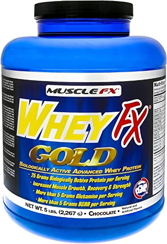 MUSCLE FX WHEY FX Gold Biologically Active Advance Whey Protein 5 lbs Chocolate