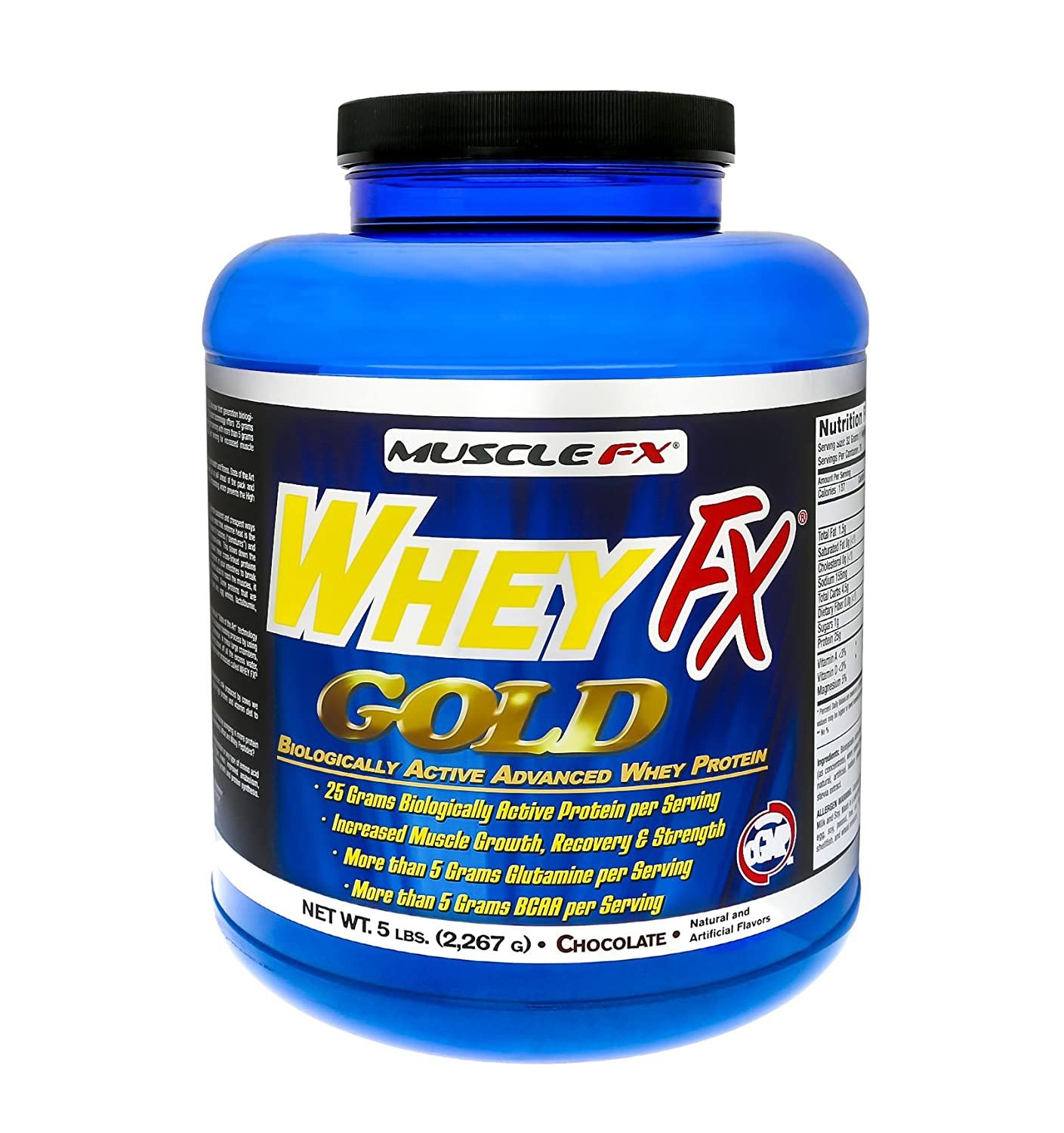 MUSCLE FX® WHEY FX GOLD® Biologically Active Advance Whey Protein 5 lbs (Chocolate)
