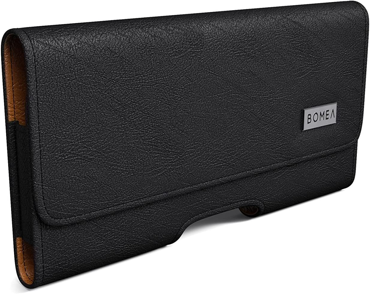 Bomea iPhone 11 Pro / Xs / 10 X Belt Holster, Premium Leather iPhone Belt Holder Case with Belt Clip and Loop Carrying Pouch for Apple iPhone 11 Pro / iPhone 10 / XS (Fits Phone with Other Case on)