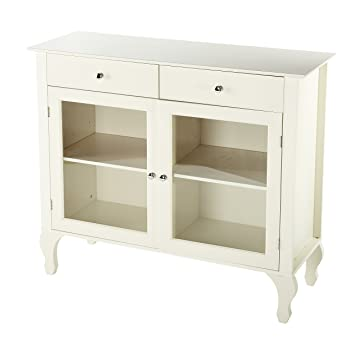 Target Marketing Systems Layla Collection Modern Antique Style Two Drawer Cabinet Shelf Buffet