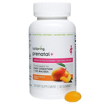 UpSpring Baby Prenatal + gomoso multivitamínico vitamina 90 recuento